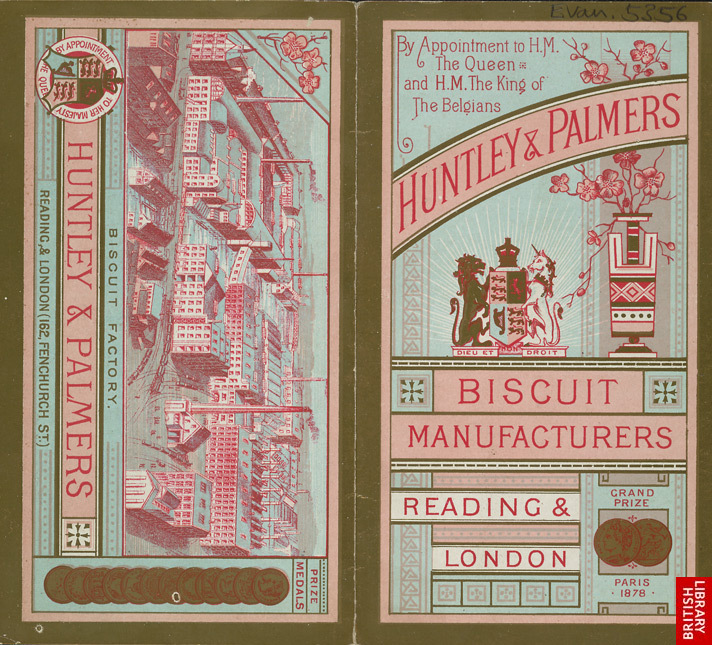 Advert for Huntley &amp; Palmer, biscuit manufacturer
